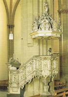 Die Kanzel - deutlich geprägt von barockem Zeitgeist